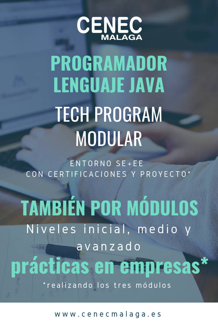Programador Java. Tech Program CENEC Málaga